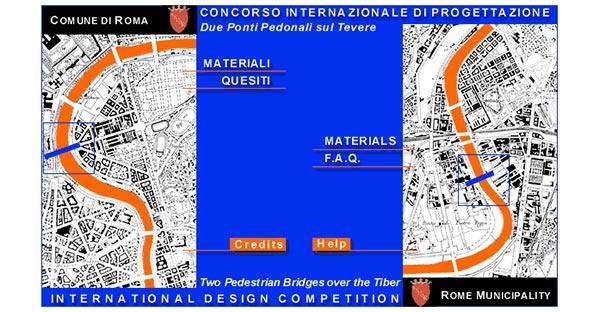 Comune di Roma - Concorso due ponti sul Tevere